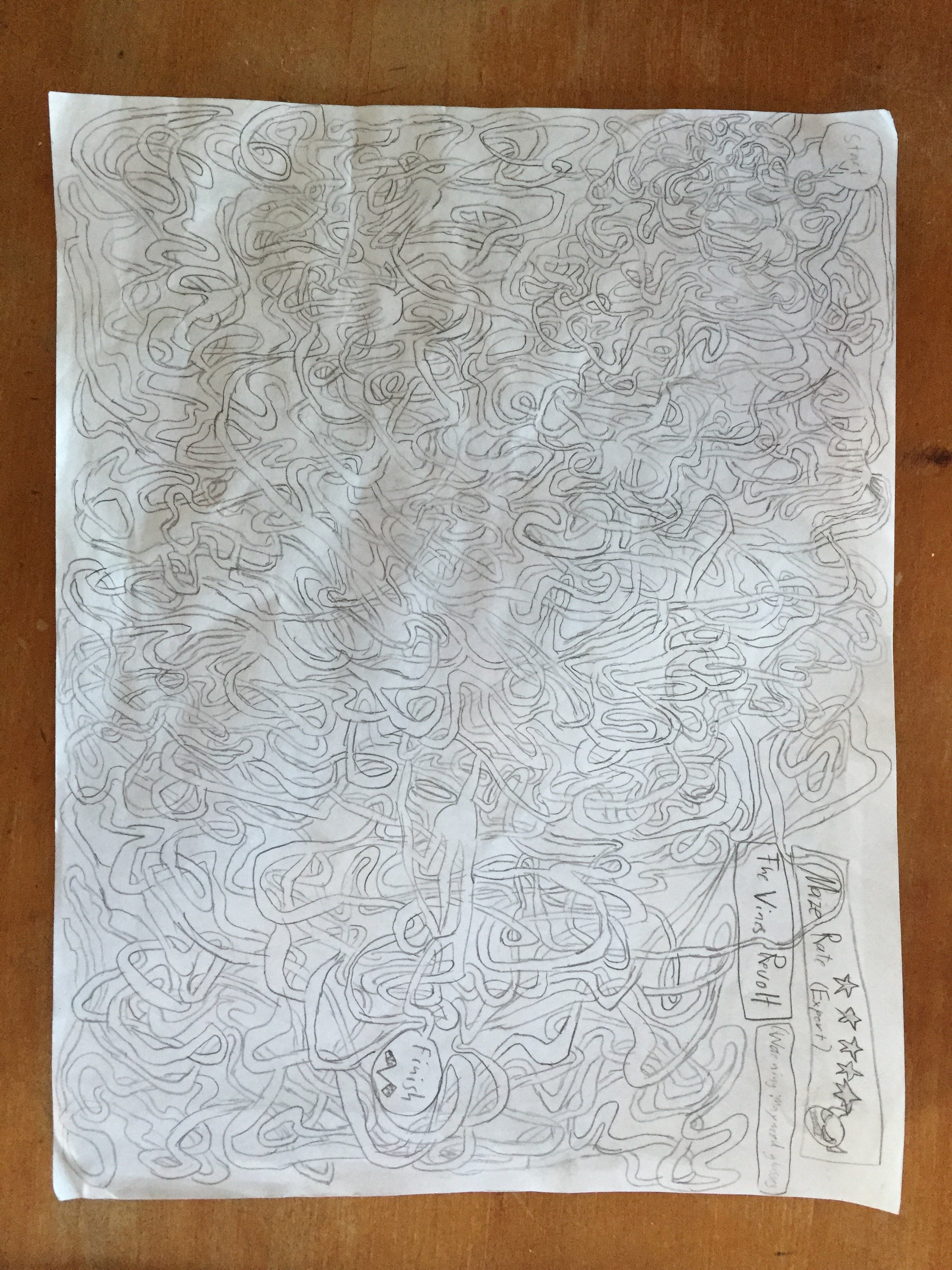 Drawn maze intricate Incredibly son drawing his mazes