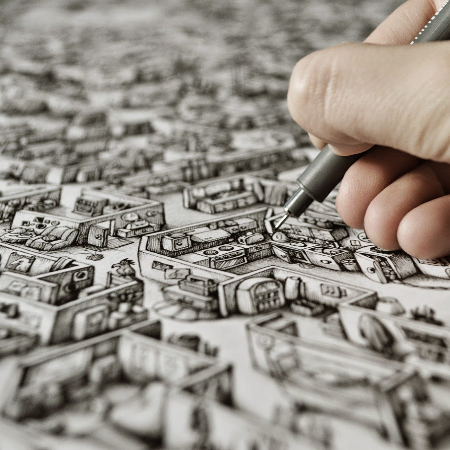 Drawn maze intricate Intricate Art Ink Tiurina