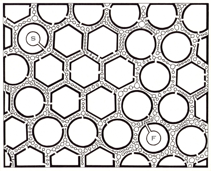 Drawn maze line Called soskin Maze by Page
