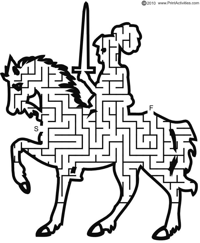Drawn maze medium Finish images for best Knight