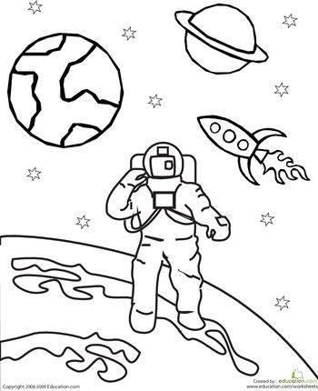 Space clipart black and white Color Pinterest Astronaut best Space