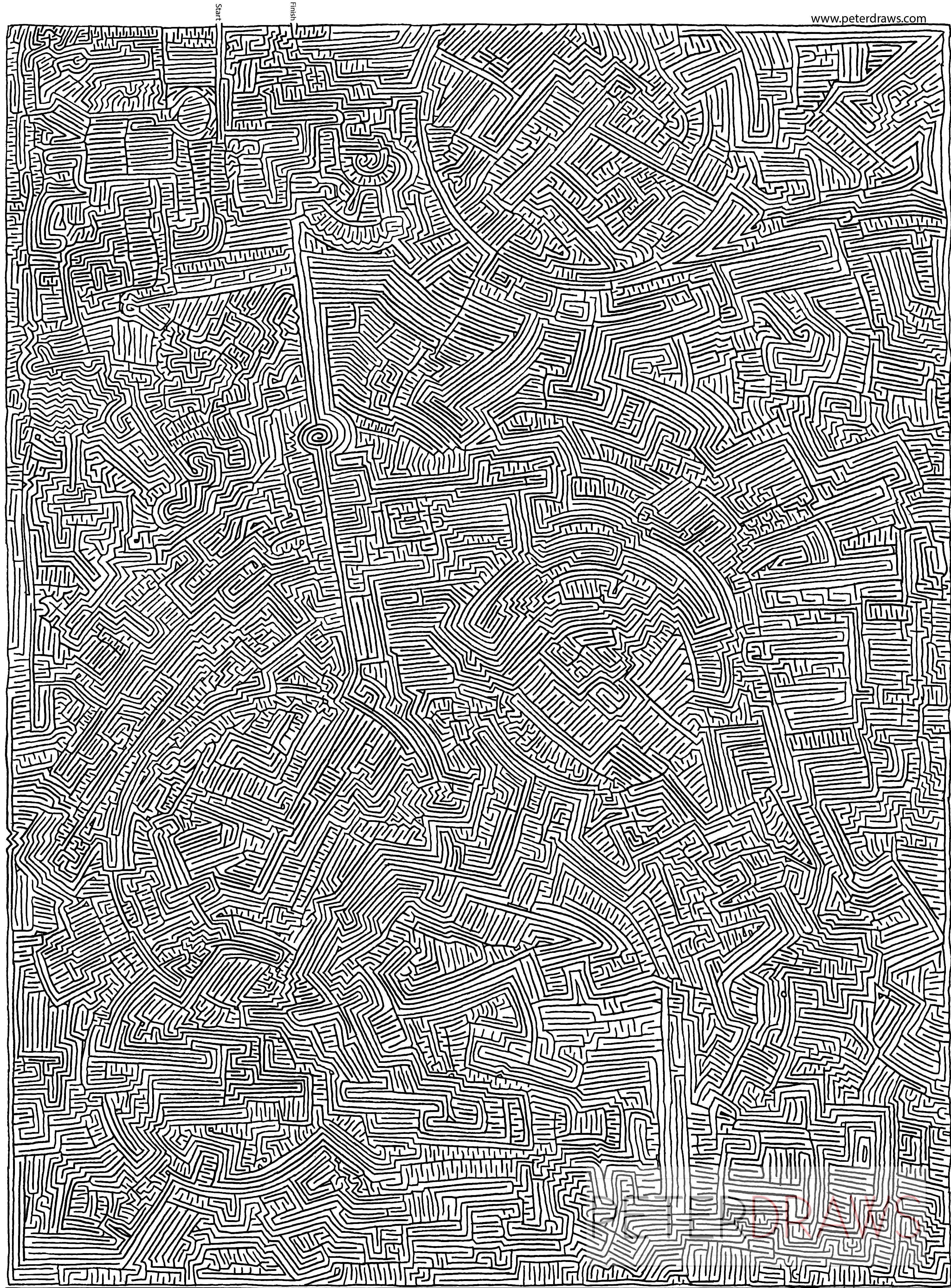 Drawn maze pencil January several maze Free 3rd