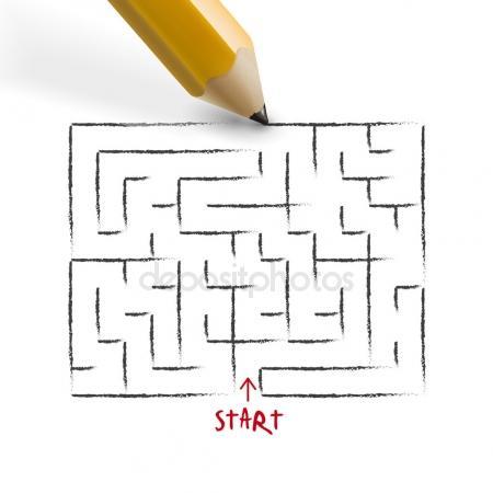 Drawn maze pencil Innovative pencil #67401249 #67401249 drawn