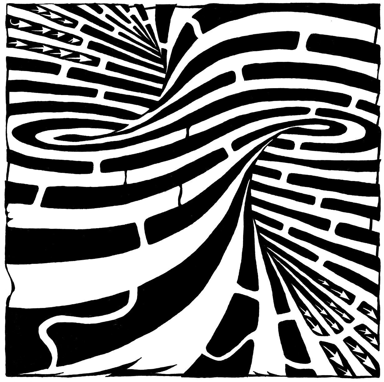 Drawn maze spiral And  the art Mazes