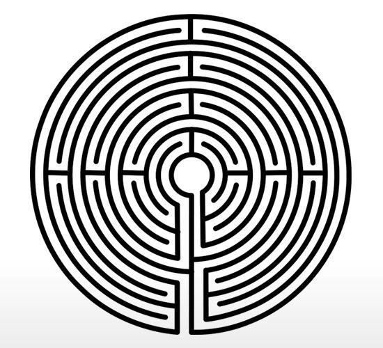 Drawn maze theseus 115 Greek elaborate best Pinterest