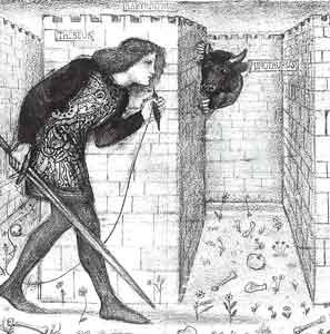 Drawn maze theseus Guide the King 24 on