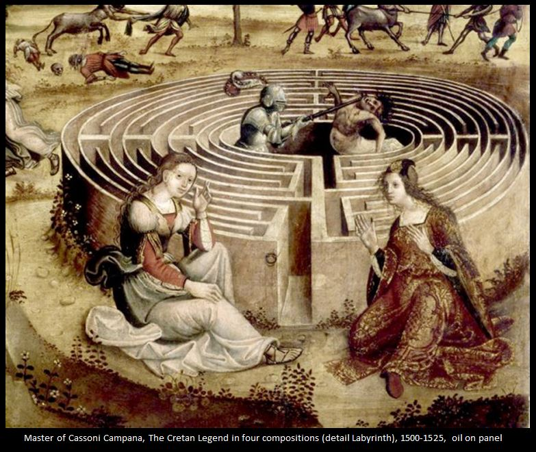 Drawn maze theseus Modern Campana Psychology Symbol ::