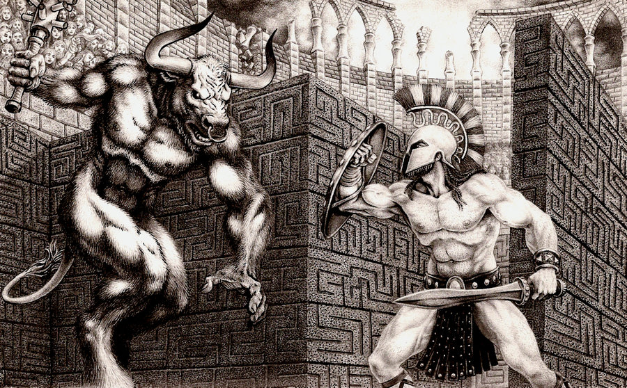 Drawn maze theseus The Mythology: Pinterest Minotaur 1000+