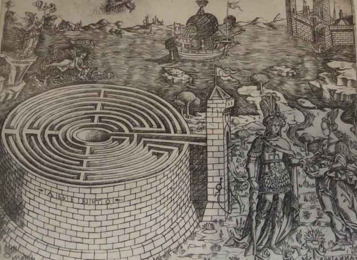 Drawn maze theseus And images Find Pin more