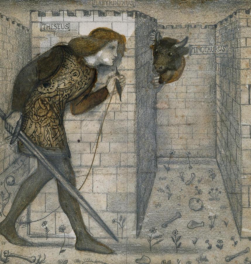 Drawn maze theseus The Theseus Labyrinth Minotaur Edward