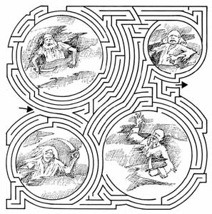 Drawn maze tricky Book KIds Pages Dover fun