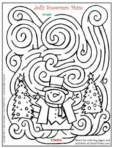 Drawn maze winter Cristina Pin on way your
