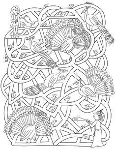 Drawn maze winter Pinterest Laberintos Laberinto Maze Princess
