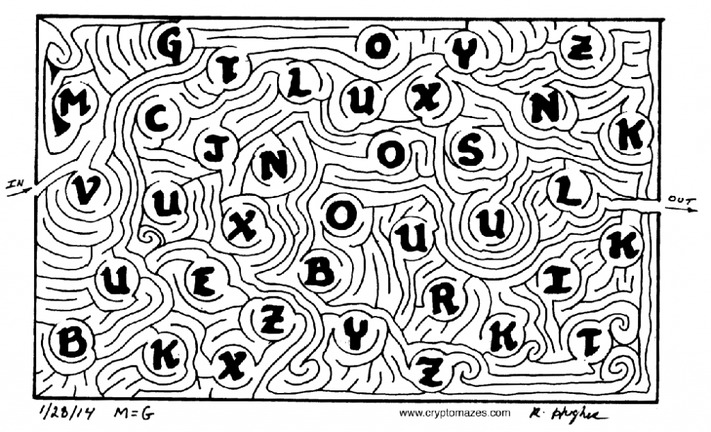 Drawn maze word Over maze first the to