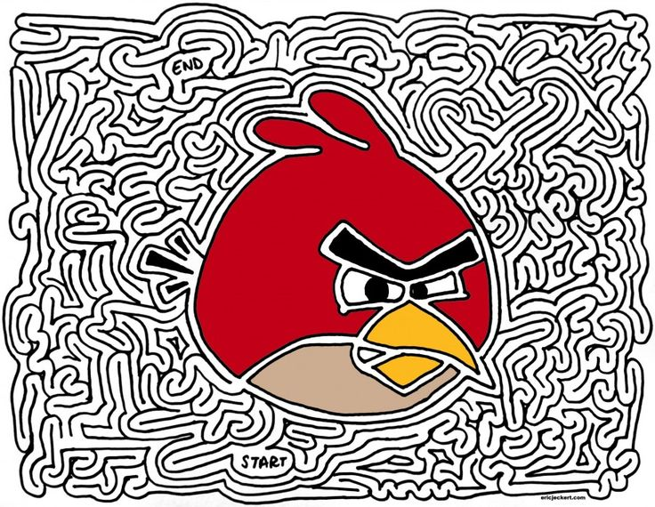 Drawn maze word Best bird word puzzles Pinterest