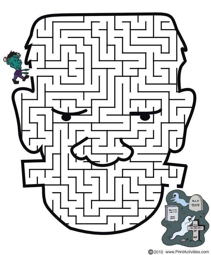 Drawn maze word Images for pages & kids