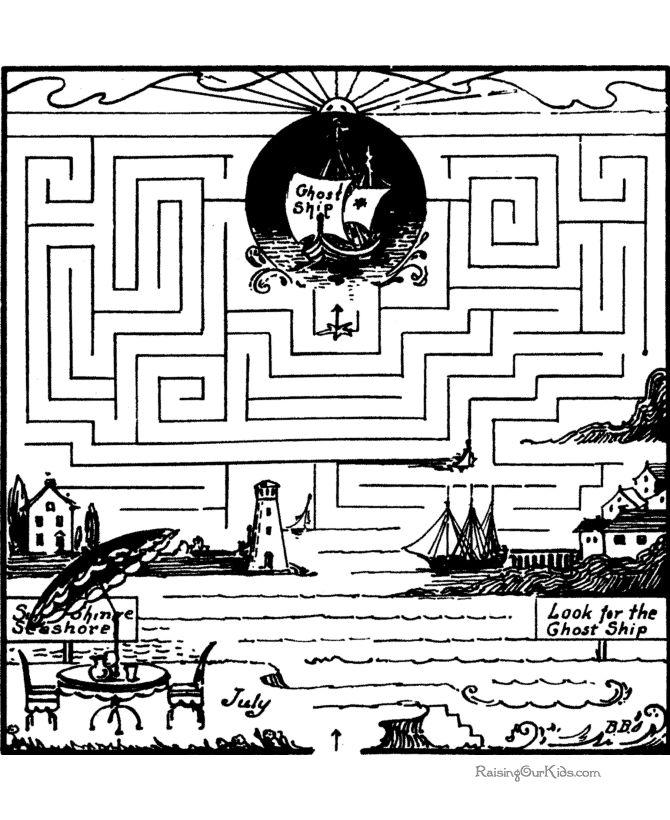 Drawn maze word Mazes puzzle & images maze