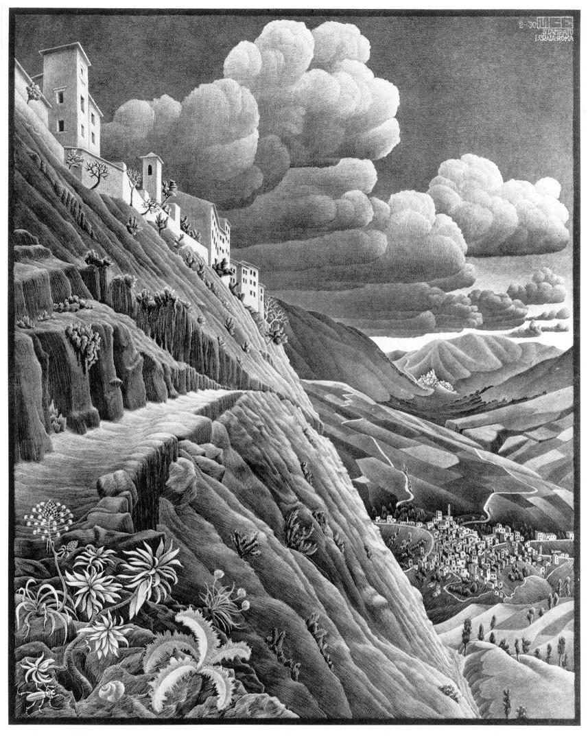 Drawn m.c.escher cloud #3