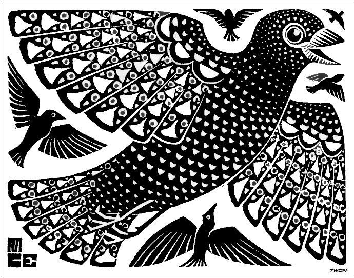 Drawn m.c.escher dinosaur Escher about 119 Birds best