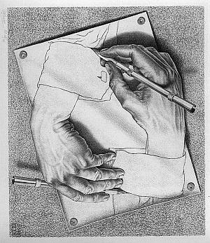 Drawn m.c.escher dinosaur 149 Because Why images M