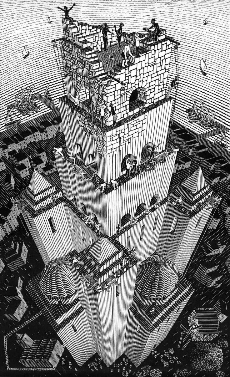 Drawn m.c.escher dinosaur Escher images Of on more