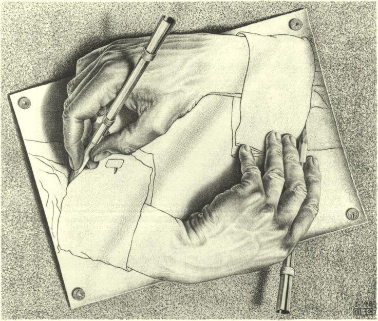 Drawn m.c.escher elephant Escher Escher Cornelis HandsMc Drawing