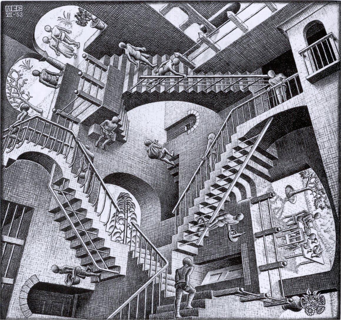 Drawn m.c.escher elephant And Escher Escher C the
