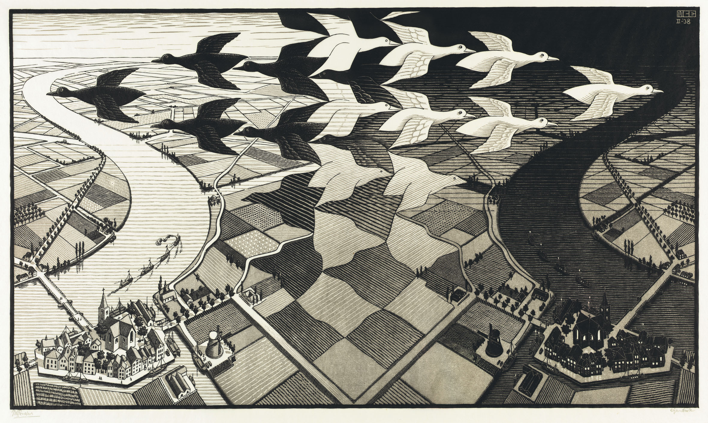 Drawn m.c.escher elephant Night and Day Artefact Review