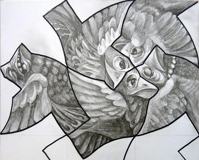 Drawn m.c.escher goku #9