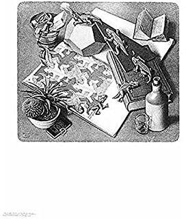 Drawn m.c.escher goku #13