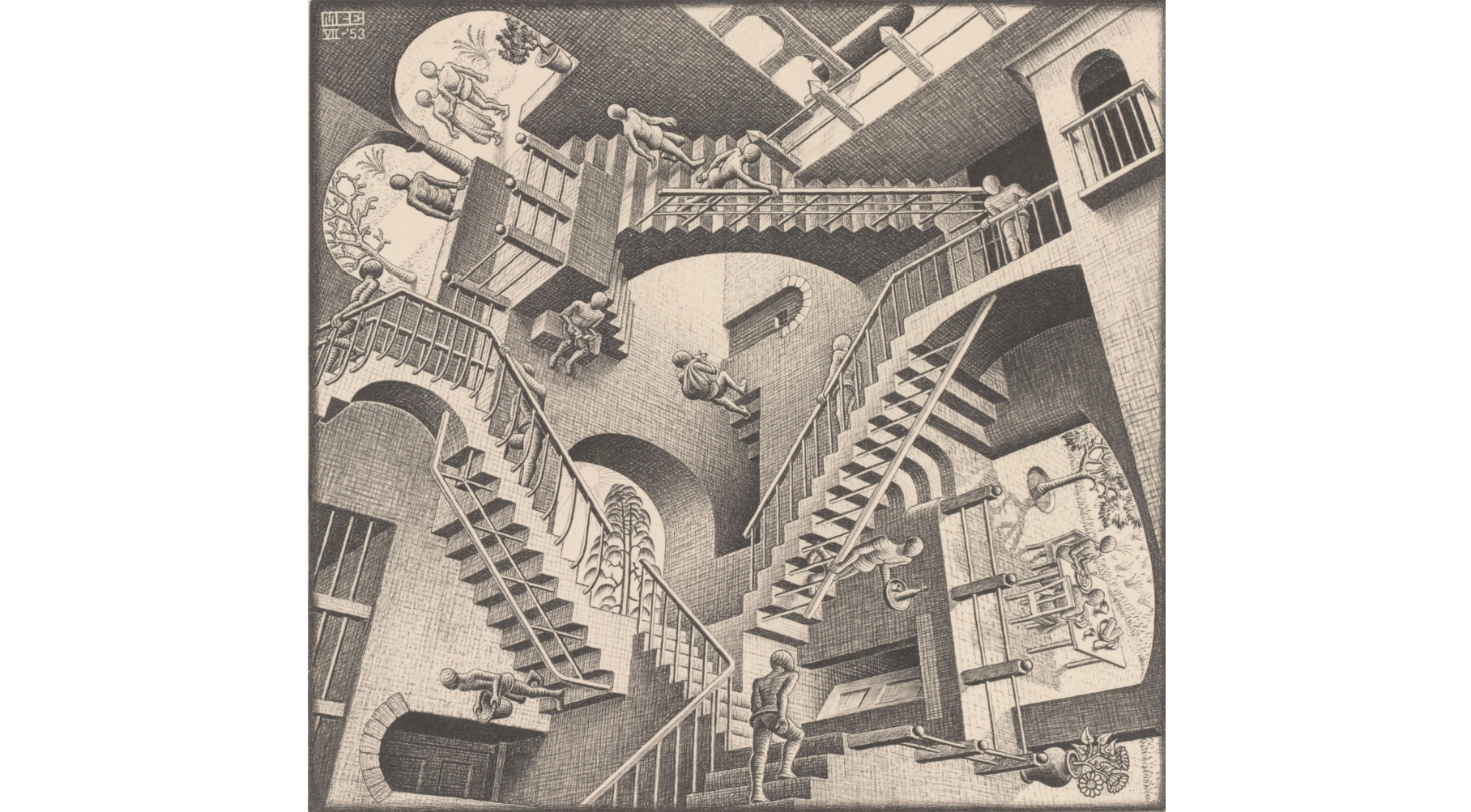 Drawn m.c.escher house 1953 You about know art