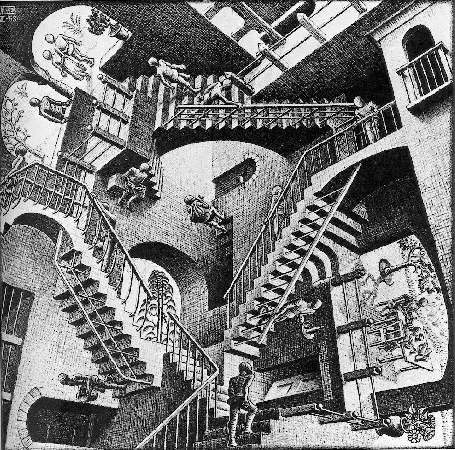 Drawn m.c.escher house House stairs Search Google of