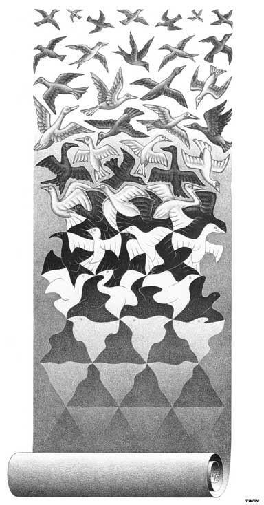 Drawn m.c.escher jessica rabbit Pin Art: Escher Pinterest C
