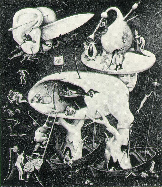 Drawn m.c.escher jessica rabbit Cornelis  Maurits Escher
