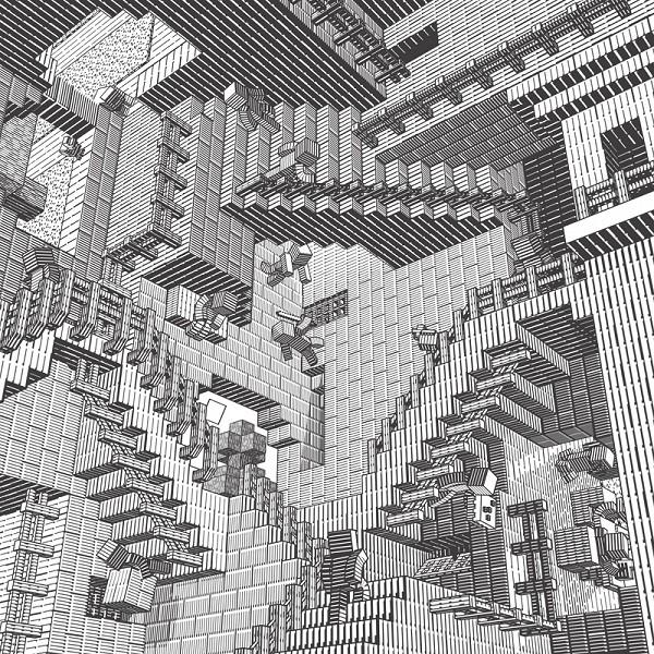 Drawn m.c.escher minecraft #9