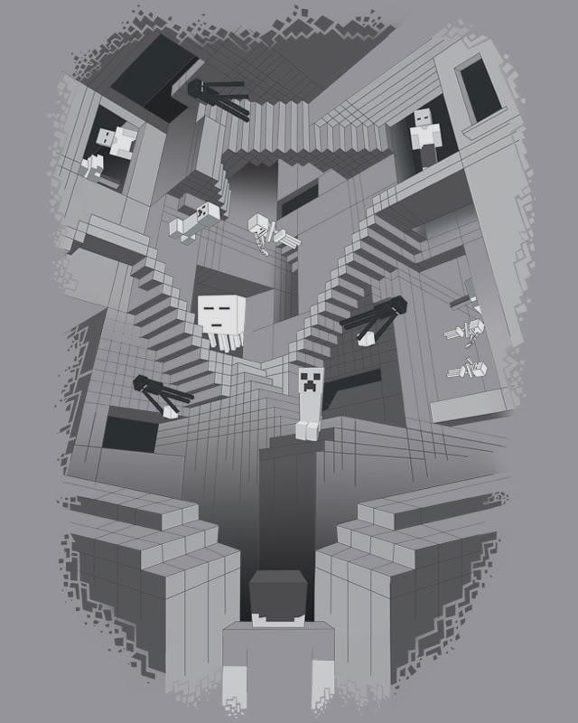 Drawn m.c.escher minecraft #15
