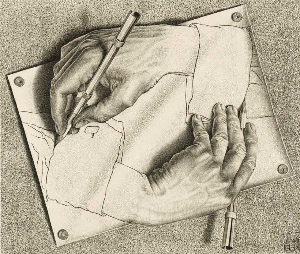 Drawn m.c.escher naruto Obras Escher nos de cansamos