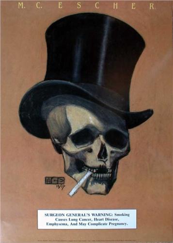 Drawn m.c.escher skeleton #9