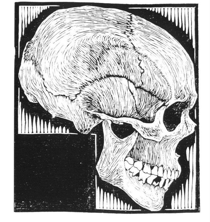 Drawn m.c.escher skeleton #6