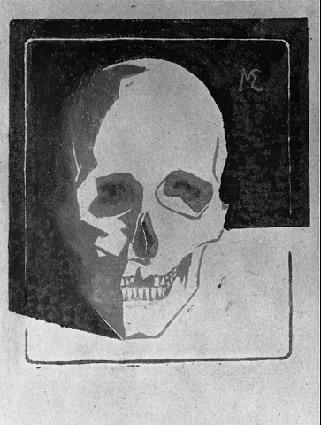 Drawn m.c.escher skeleton #10