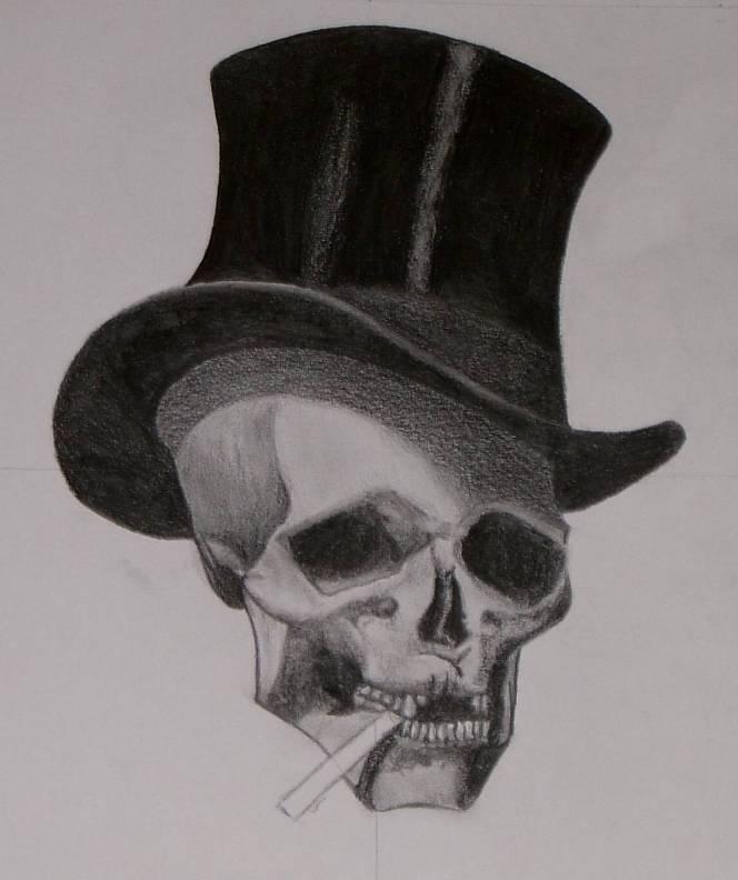 Drawn m.c.escher skeleton #5