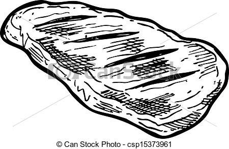 Drawn amd meat Raw raw drawn Vector Art