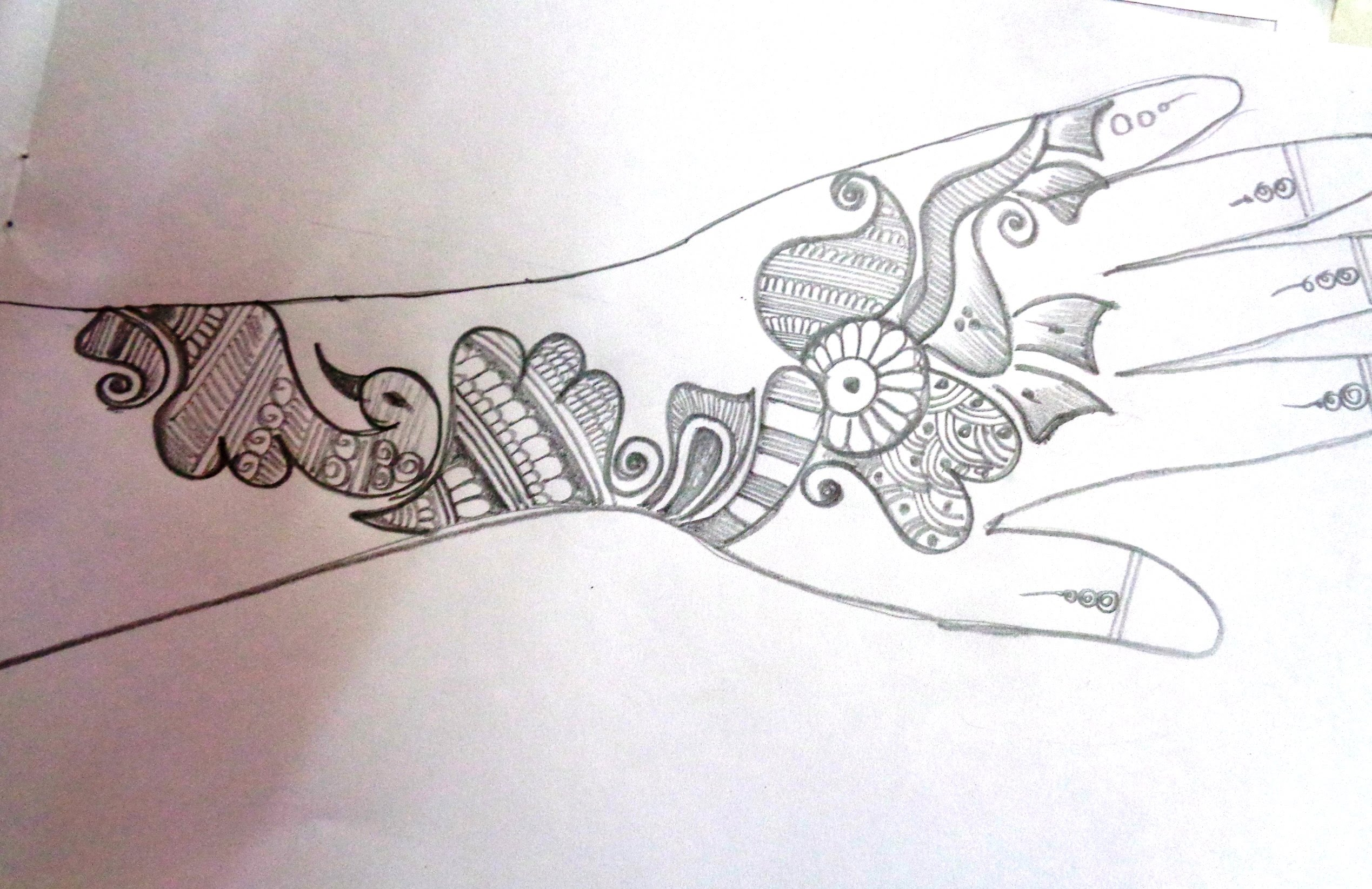 Drawn mehndi abstract A How Mehndi/Henna On Paper