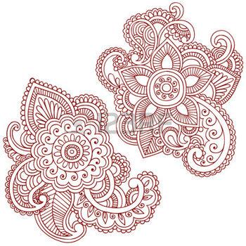 Drawn mehndi Doodle Hand  Elements Henna