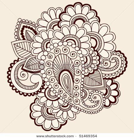 Drawn mehndi abstract Henna hand mehndi images on