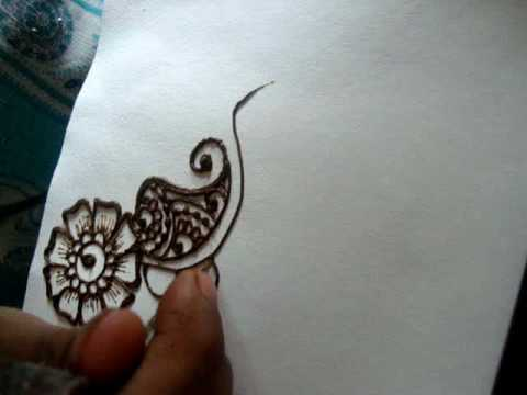 Drawn mehndi beginner Part floral floral draw (Mehendi)