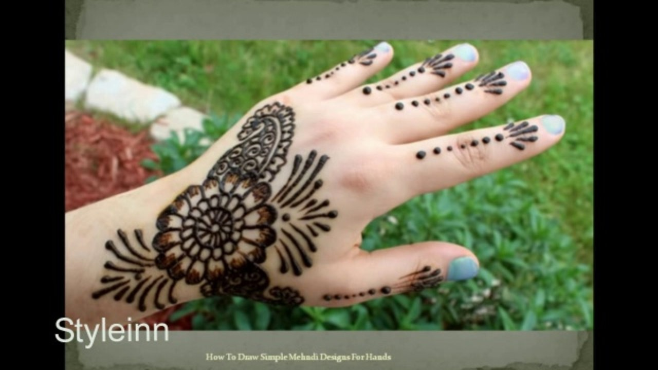 Drawn mehndi beginner Hands Simple To Draw For