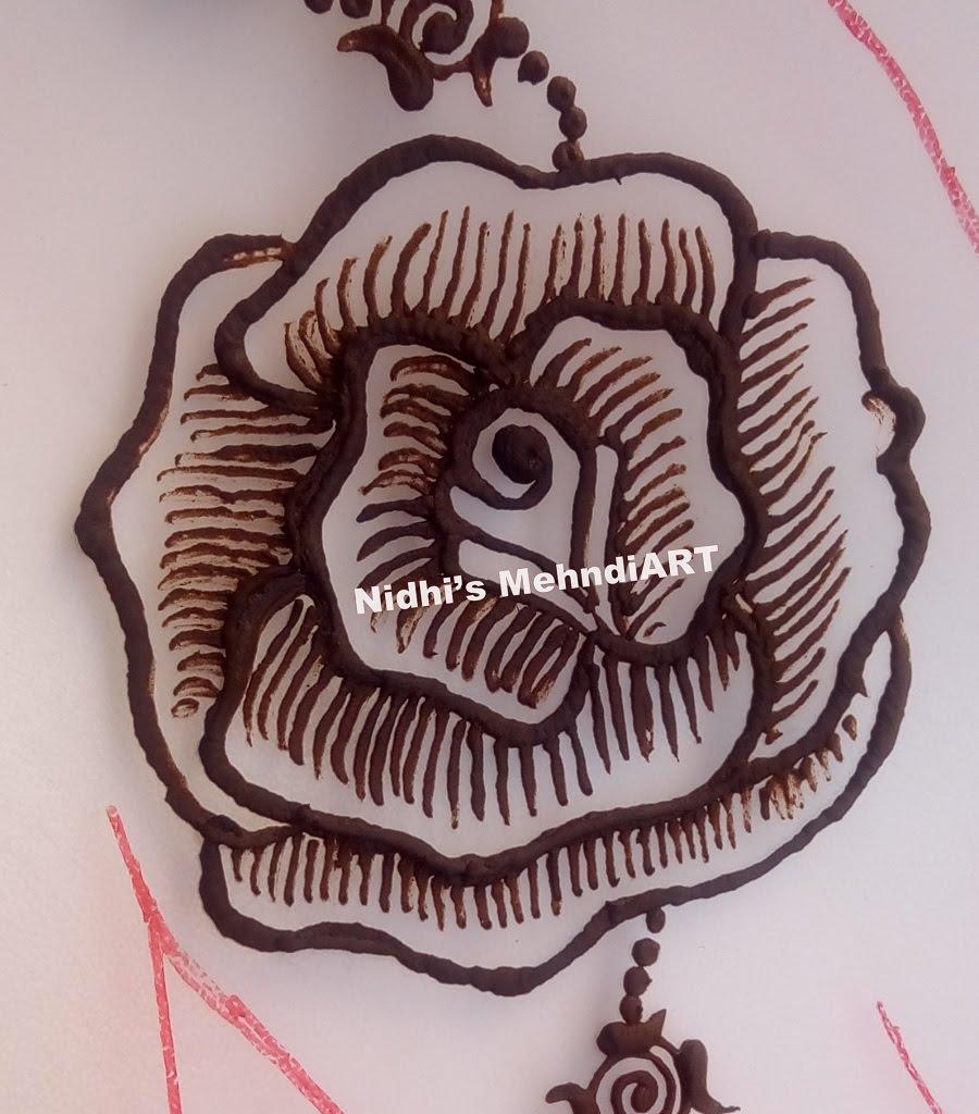 Drawn mehndi big flower Step Design Step YouTube Henna