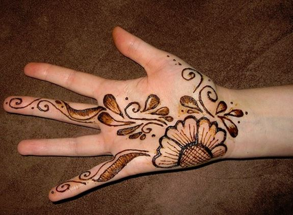 Drawn mehndi big flower Kid's have really mesh and