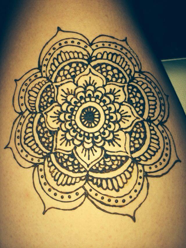Drawn mehndi big flower Henna on Best Henna flower